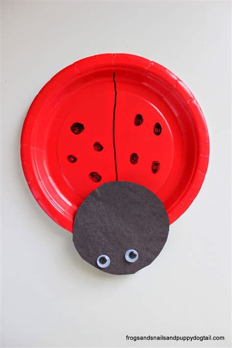 ladybug paper craft ladybug paper plate craft fspdt