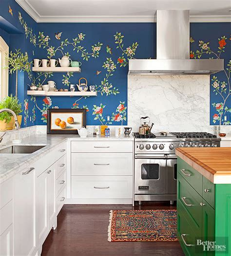 wallpaper kitchen ideas 20 creative ways to use wallpaper in the kitchen