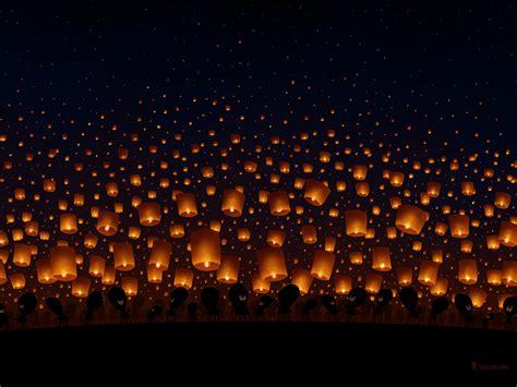 sky lanterns by vladstudio on deviantart