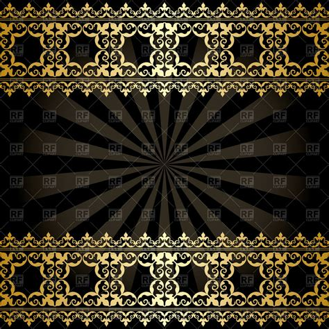 decorations images background background with golden arabic decorations and rays vector
