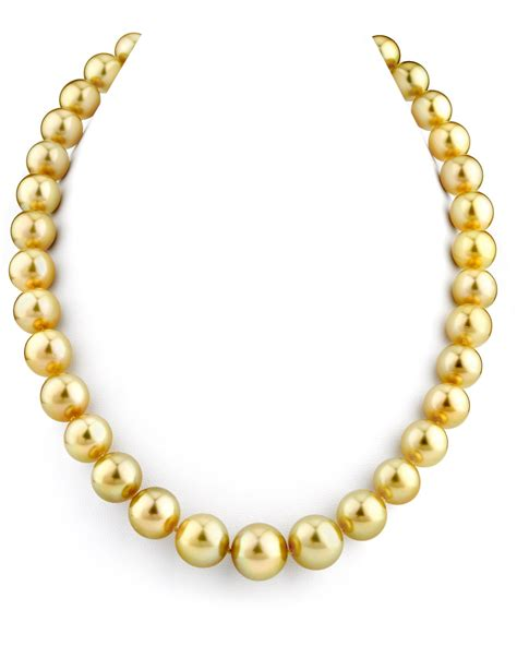 pearls with gold buy 11 13mm golden south sea pearl necklace for 6 999
