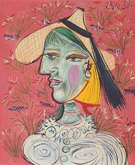 picasso paintings of therese therese with straw hat print by pablo picasso