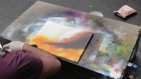 spray paint edinburgh artist in edinburgh scotland makes beautiful
