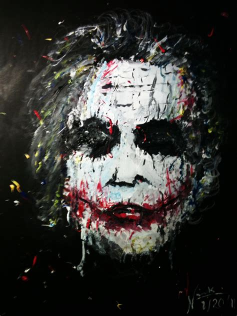 acrylic painting of joker acrylic painting of joker by inkway on deviantart