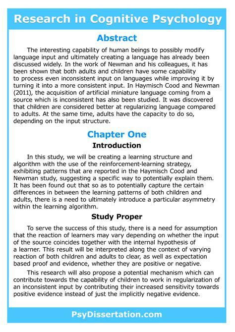 cognitive psychology phd cognitive psychology dissertation writing help