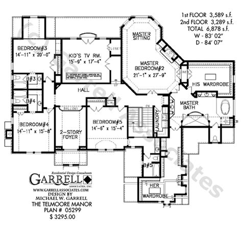 manor house floor plan telmoore manor house plan house plans by garrell