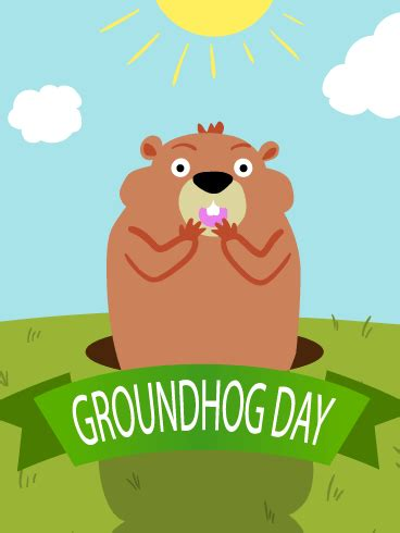 groundhog day keep the talent happy day groundhog day card birthday greeting cards