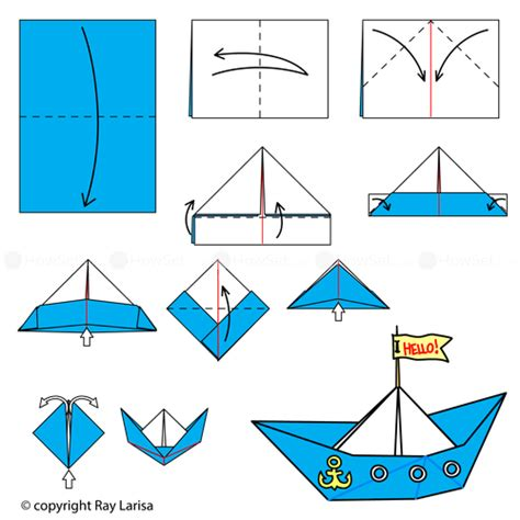 how to make a origami boat step by step boat animated origami how to make origami