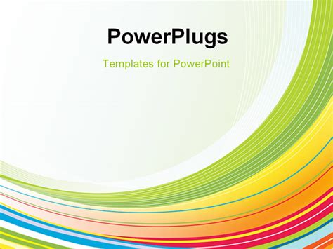 rainbow colorful powerpoint template backgrounds slide