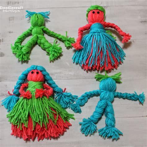 easy yarn crafts for crafts yarn dolls