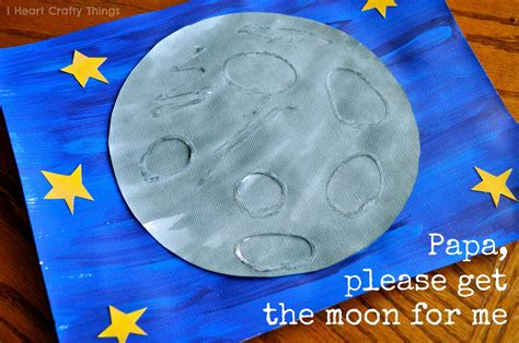 moon crafts for eric carle inspired moon touch and feel textured moon