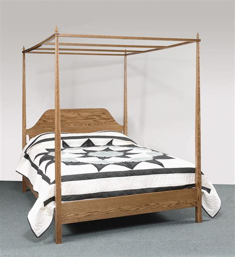 sheffield collection pencil post bed with canopy amish