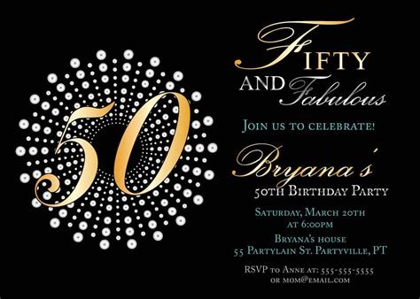 templates for 50th birthday invitations free printable