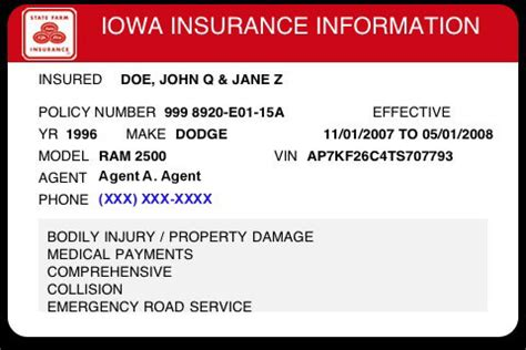 how to make a auto insurance card illinois insurance card template 187 ibrizz