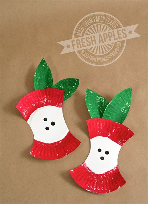 paper craft for kindergarten apple crafts for