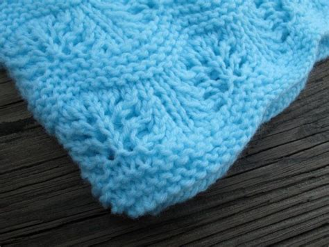 knitted ripple baby blanket aqua knitted ripple baby blanket afghan hat set