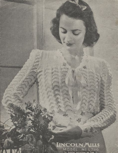 1940 knitting patterns free the vintage pattern files 1940s knitting lincoln mills