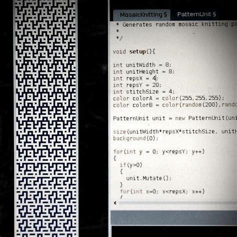 Mosaic Knitting Pattern Generator Kogler S Portfolio