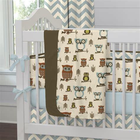 crib bedding owls retro owls crib blanket carousel designs