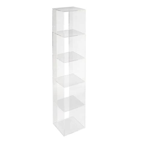 acrylic bookshelves now you see it acrylic bookcase the land of nod