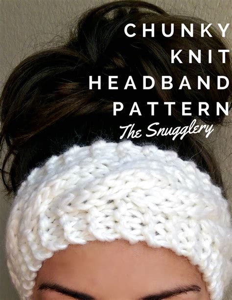 how to end a knitted headband free chunky cable knit headband pattern crochet and