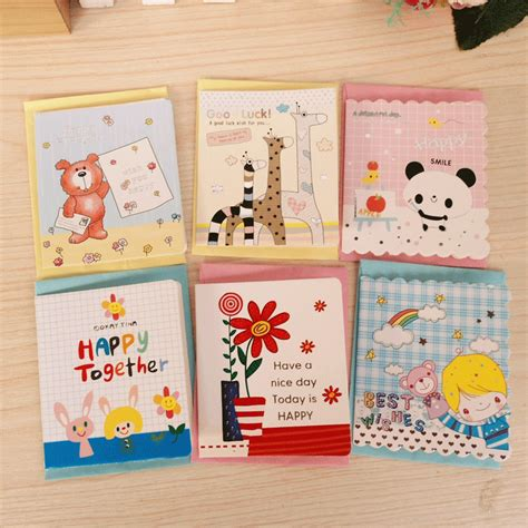 cheap card supplies free delivery free shipping creative children s small greeting card with