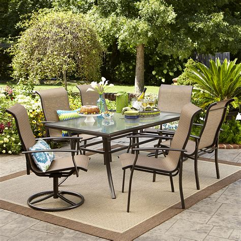 patio 7 dining set garden oasis harrison 7 dining set