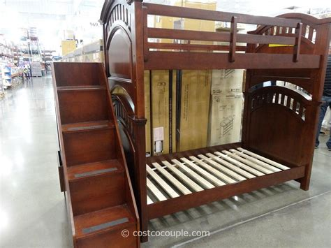 bunk beds in costco pulaski manning bunkbed with storage