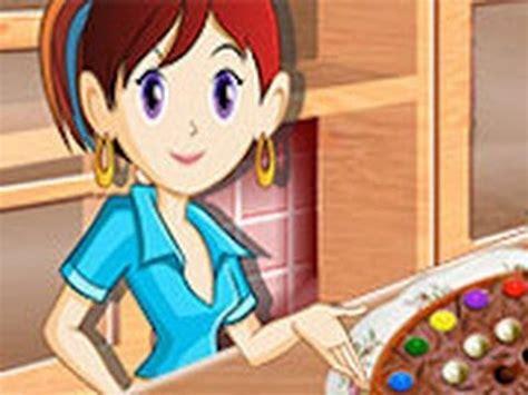 juegos de cocinar chocolates pizza de chocolate juegos de cocina con sara youtube