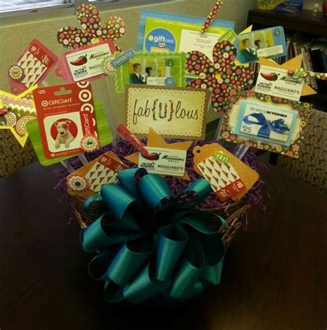 how to make a gift card basket 1000 ideas about gift card displays on silent
