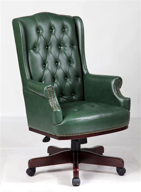 office desk and chair chesterfield style executive office desk chair leather