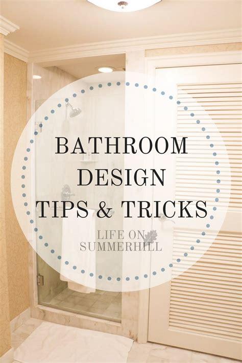 bathroom design tips bathroom design tips and tricks on summerhill