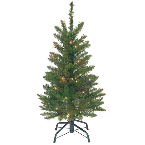 pencil artificial tree with clear lights national tree company 3 ft kingswood fir wrapped pencil