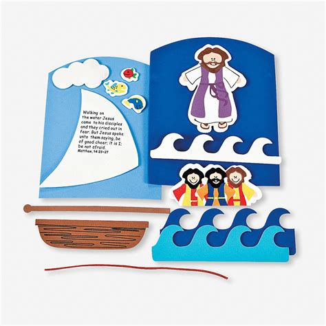 jesus walks on water craft for jesus walking on water craft kit trading