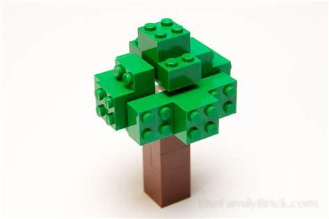 tree on minecraft build a lego minecraft tree the family brick