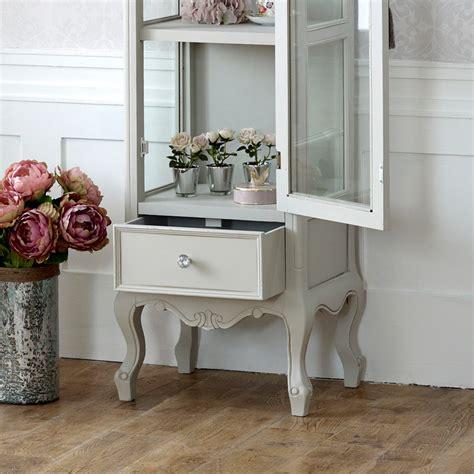 grey shabby chic bedroom furniture grey wooden ornate glazed display cabinet shabby