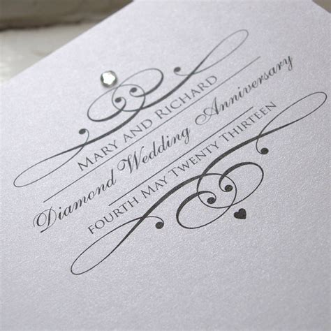 Diamond Wedding Invitation Cards Happy Wedding Anniversary Quotes Cards Decorations Invitations