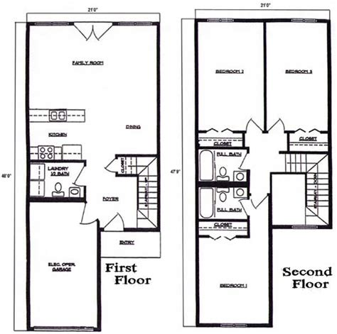 floorplan 3 bedroom 2 5 bath 2 story townhome at lincoln