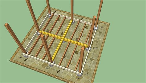 gazebo floor plans wooden gazebo plans howtospecialist how to build step