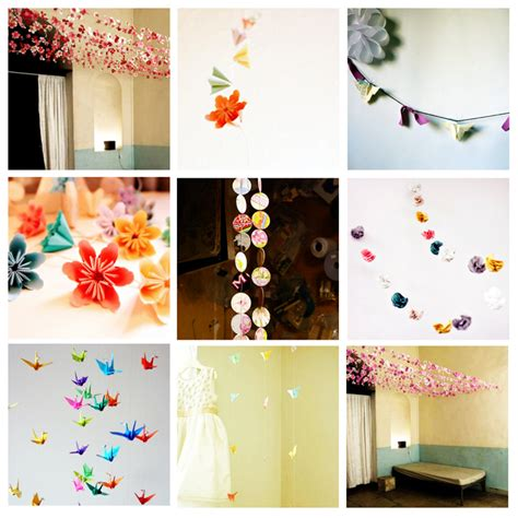 origami garland recycled paper chains origami garlands