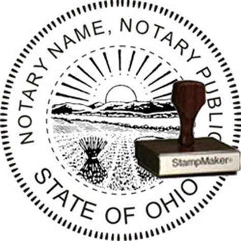 notary rubber st notary seal wood st ohio thestmaker