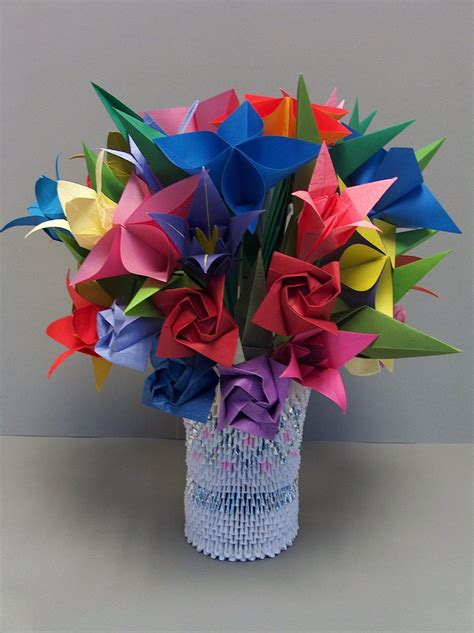 origami 3d flower vase 1000 images about origami and such on