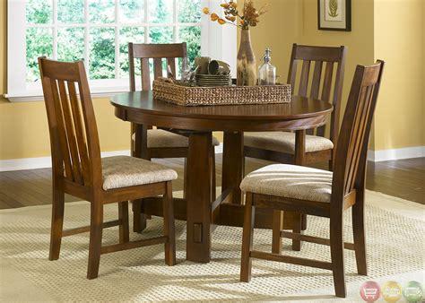 casual dining room furniture sets mission oak casual dining furniture set