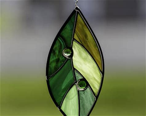 glass leaf stained glass leaf etsy