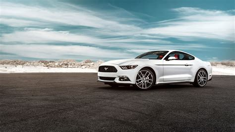 Best Car Wallpaper 2015 by 2015 Ford Mustang Gt White Car Wallpaper 1920x1080