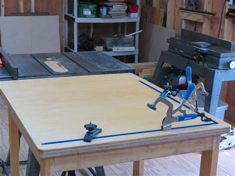 woodworking assembly table outfeed assembly table by thomrider lumberjocks