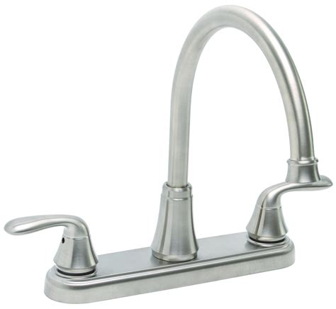 2 kitchen faucet premier 126966 two handle kitchen faucet without spray in brushed nickel