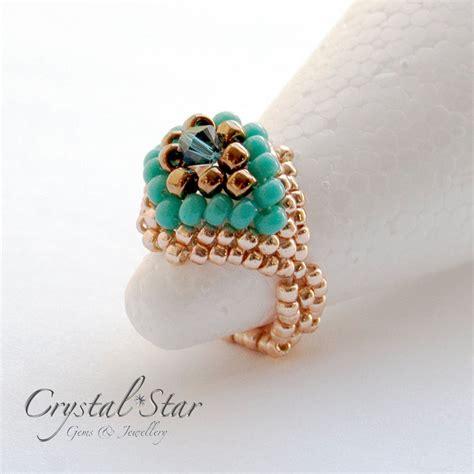 how to make beaded rings felicity beaded ring tutorial gems jewellery