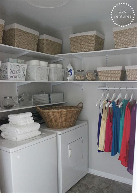 laundry room storage shelves duo ventures laundry room makeover