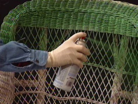 spray painting wicker how to clean and paint a wicker chair how tos diy